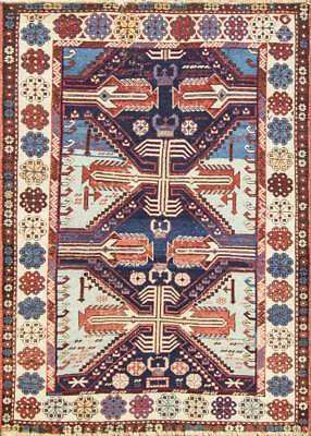 "3'9"" x 5'3"" Unusual Antique Shirvan Caucasian Oriental Rug, C-1880 #16834"