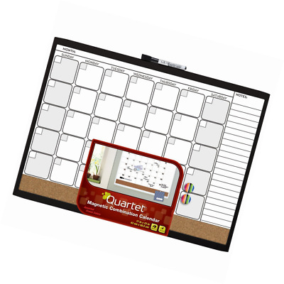 Quartet Magnetic Combination Calendar Board 17 x 23 Inches Dry Erase Cork