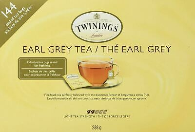 Twinings Earl Grey Tea (144 sealed tea bags) (288g) {Imported from Canada}