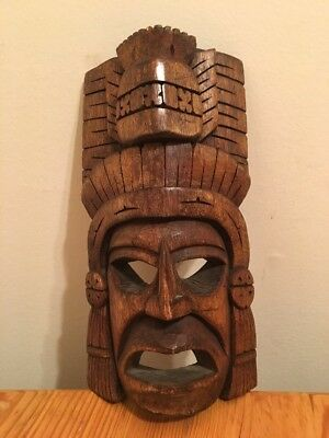 Hand Carved Wooden Mask Tribal