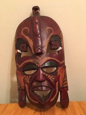 Hand Carved Wooden Tribal Mask