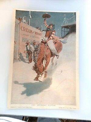 Cream of Wheat Magazine Ad - 1907 Bronco Buster Ad