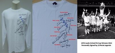 1972 Leeds United FA Cup Winners Multi Signed Shirt - Revie Legends (11382)