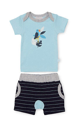 NEW Marquise Parrot T-shirt and Short Set Blue