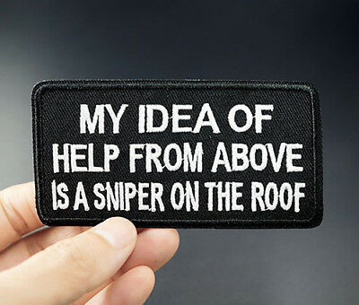 Sniper Army Motif Embroidered Applique Patch Iron On Sew On Clothing Patches