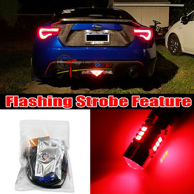 LED Rear Bumper Third 3rd Brake Light Red DRL Driving Fog Tail For Toyota C-HR - CAD $48.90 ...