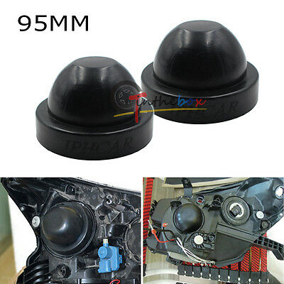 95mm Rubber Housing Seal Caps For Headlight Install HID Conversion Kit, Retrofit