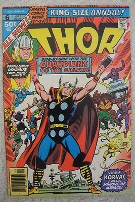 -$1 Thor Annual #6 Guardians Of The Galaxy Origin Korvac 1St Brahl Marvel 1977