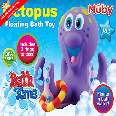 Lovely Fun Toys Octopus Rings Colorful For Toddlers Boys Girls Kids Gift Play