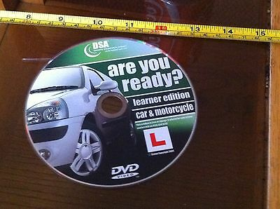 DVD Are you Ready ? Car & Motorcycle Learner Edition DSA Disc Only 2009