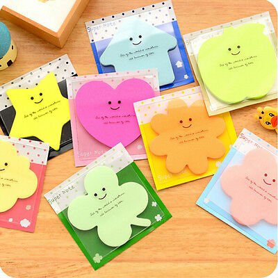 Cute Fun Lovely Memo With Cover Bookmark Pad Stick Paste Memo Tab Sticky Note HC