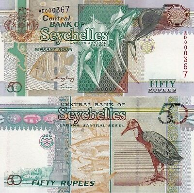 Seychelles 50 Rupee (2011) - Fish/Bird/Flowers/p42 UNC