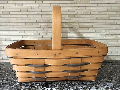 Longaberger Heartland Collection 1996 Small Chore Basket 13404 - Displayed Only!