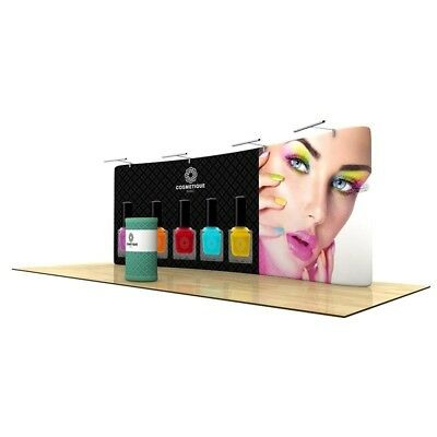 Wave Tube 20' Curved Tension Fabric Display