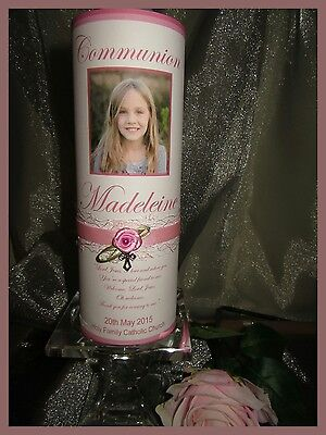 PERSONALISED Confirmation, First Holy Communion Candle