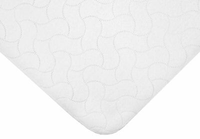 American Baby Company Waterproof Embossed Quilt-Like Flat Crib Protective Mattre