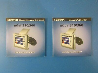 Lot of 2 - Garmin Nuvi 310/360 Personal Travel Assistant Manual French & Spanish
