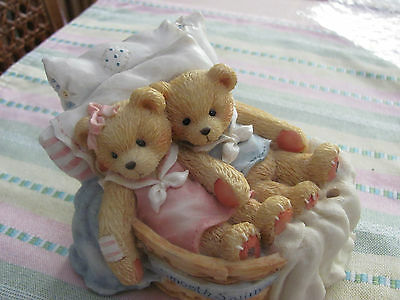 "Cherished Teddies Music Box Enesco.""Love Will Keep Us Together"" Retired"