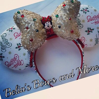 Merry Chistmas  Mouse Ears, Handmade Item....Home for the holidays