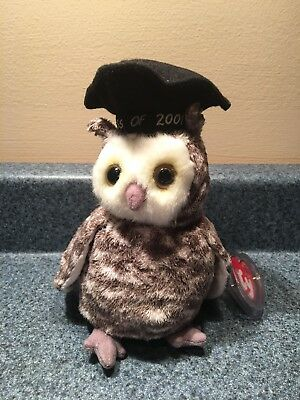 0134b33b805 2001 Smart The Class Of 2001 Graduation Owl Beanie Baby Mint With Mint Tags
