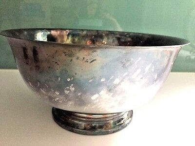 Vintage Silver Bowl, Large Size William Rogers Paul Revere Reproduction