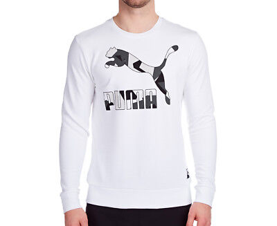 Puma Men's Archive Logo Crew Sweater - White