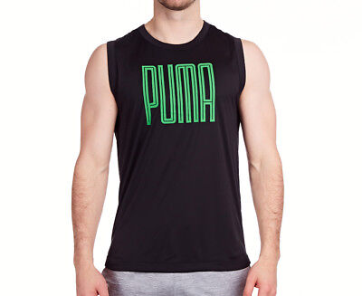Puma Men's Training Sleeveless Top - Puma Black/Andean Toucan