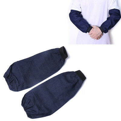 Welding Arm Sleeves Denim Heat Protection Cut Resistant Welding Protection