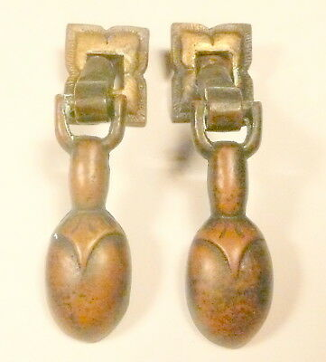 vintage* RCA RADIOLA 62:  TWO ORNATE BRASS FRONT DOOR PULLERS