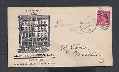 Usa 1897 Fruit & Commission Merchants Advertising Cover & Letter Cleveland Ohio