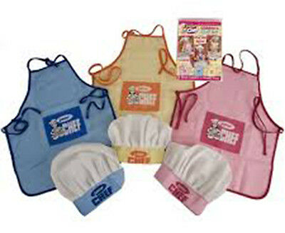 New Junior Chef's Apron and Hat Play Set Children's Kids Chef Cooking Baking