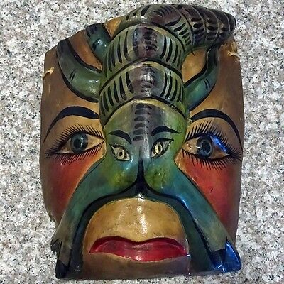 Wooden scorpion face mask from Mexico