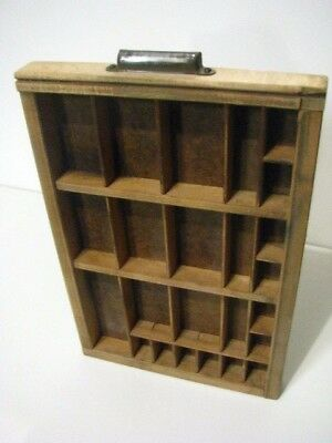 Antique Vintage Hamilton Wooden Printer's Typeset Drawer Tray Shelf. small