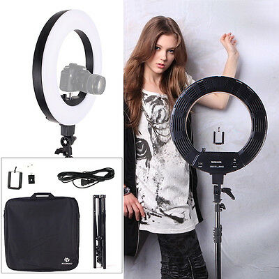 """18"""" Fluorescent Dimmable Video Photo Continuous Ring Light Kit Stand Carry Bag"""
