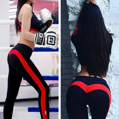 Women Ladies High Waist Yoga Leggings Fitness Running Gym Sports Pants Trousers