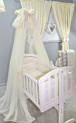 LOVELY  CANOPY DRAPE for BABY Crib/Craddle COT/COTBED/COT BED