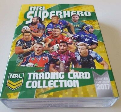 2017 ESP NRL Superhero Complete 25 Card Box Set Marvel Jersey Round Limited /100