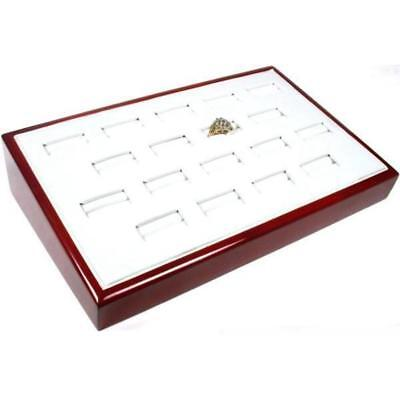 18 Ring Rosewood Tray Jewelry Counter Showcase Display