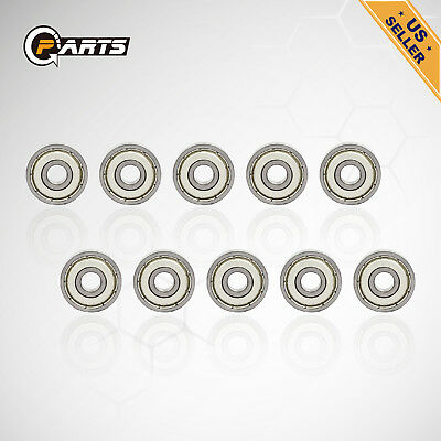 20pcs 608zz Deep Groove Ball Bearing Carbon Steel For Skateboard Roller Blade US