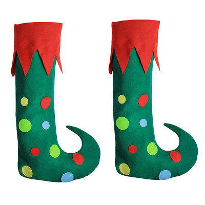 Green Merry Christmas Elf Boots Adults Shoes Xmas Costume Fancy Dress Hot