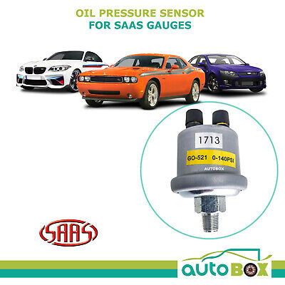 Oil Pressure Sensor suits SAAS Gauges 1/8 NPT 0-140 PSI Sender Replacement