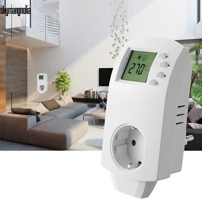 lcd digital thermostat steckdosen stecker zeitschaltuhr steckdose schaltzeituhr eur 21 99. Black Bedroom Furniture Sets. Home Design Ideas