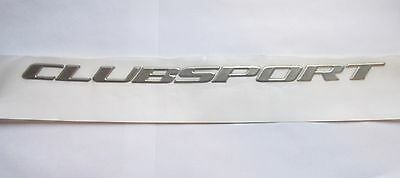Hsv Vx Series 2 ' Clubsport ' R8 Writing Decal Chrome Boot Lid Badge Genuine Hsv