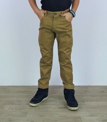 Boys Chinos Kids Casual Navy & Stone Pure Cotton Chino Trouser Pants