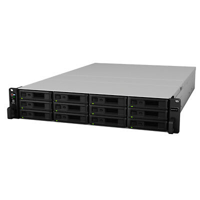 Synology RS18017xs+ 96TB (12 x 8TB WD RED PRO) 12 Bay NAS Rack Unit 60 Months Wa
