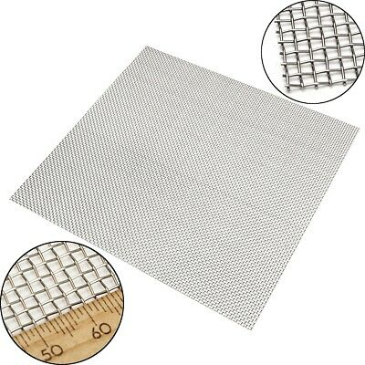 """12""""x12"""" 304 Stainless Steel 10 Mesh Silver Wire Cloth Screen Filtration Filter"""