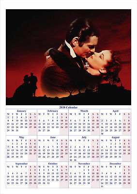 Gone with the Wind V2 - 2018 A2 POSTER CALENDAR *LATEST BUY 1 GET 1 FREE OFFER*