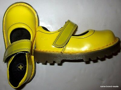 DR MARTENS Little Girls US Size 8 M Yellow Patent Leather Mary Janes Shoes DOCS