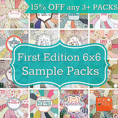 FIRST EDITION 6x6 PAPER - Pick from 20+ Sample Packs - 16 SHEETS 200gsm from pad