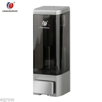 Seifenspender Wand Shampoo Spender Seife Dispenser Wandmontage 500ml Silber